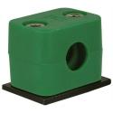 buisklem groen - RVS montageplaat