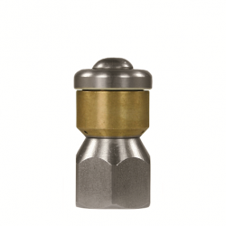 Rioolnozzle roterend zonder frontboring 1/8