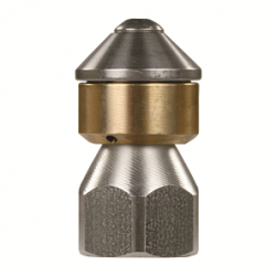 Rioolnozzle roterend zonder frontboring 3/8