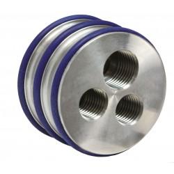 Drievoudige nozzle houder