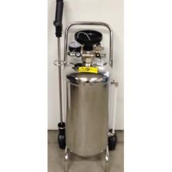 Schuimunit in RVS 100 liter